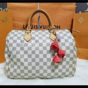 💯% authentic Louis Vuitton Speedy 30 Azur